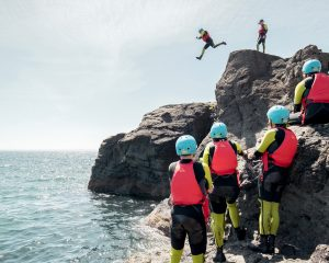 What is coasteering? | The big big jump!