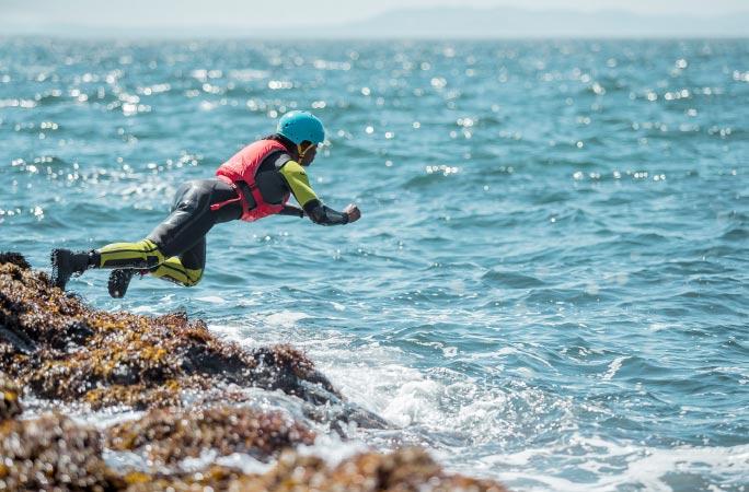 Arbroath coasteering
