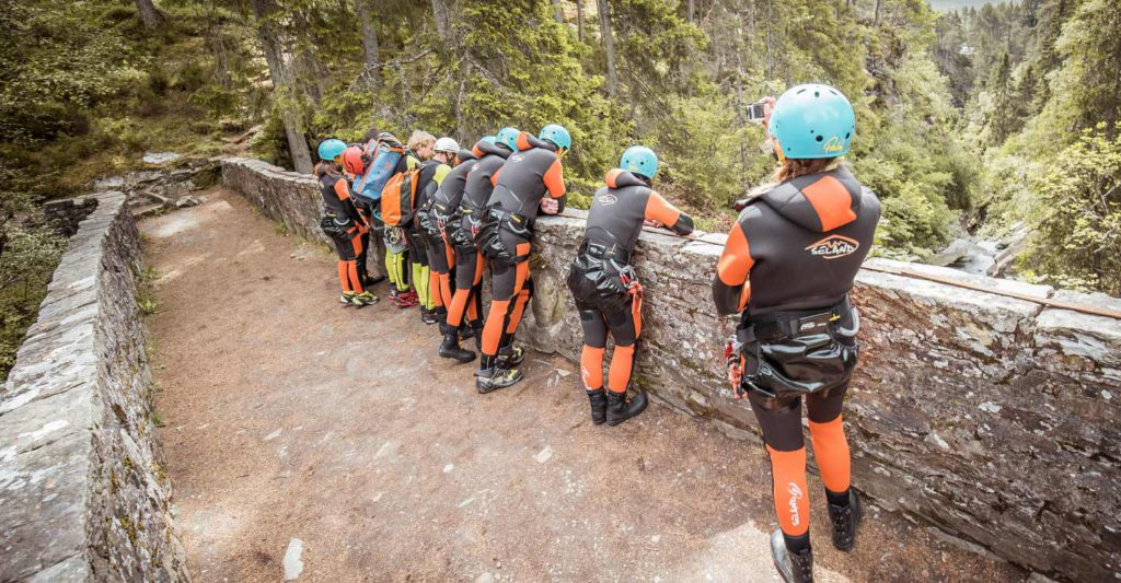 Canyoning v coasteering? These girls and guys chose canyoning!