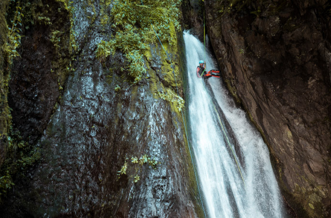 What's is canyoning? Abseiling, cliff jumping, water slides and adventuring