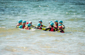 What is coasteering? Swimming in the sea
