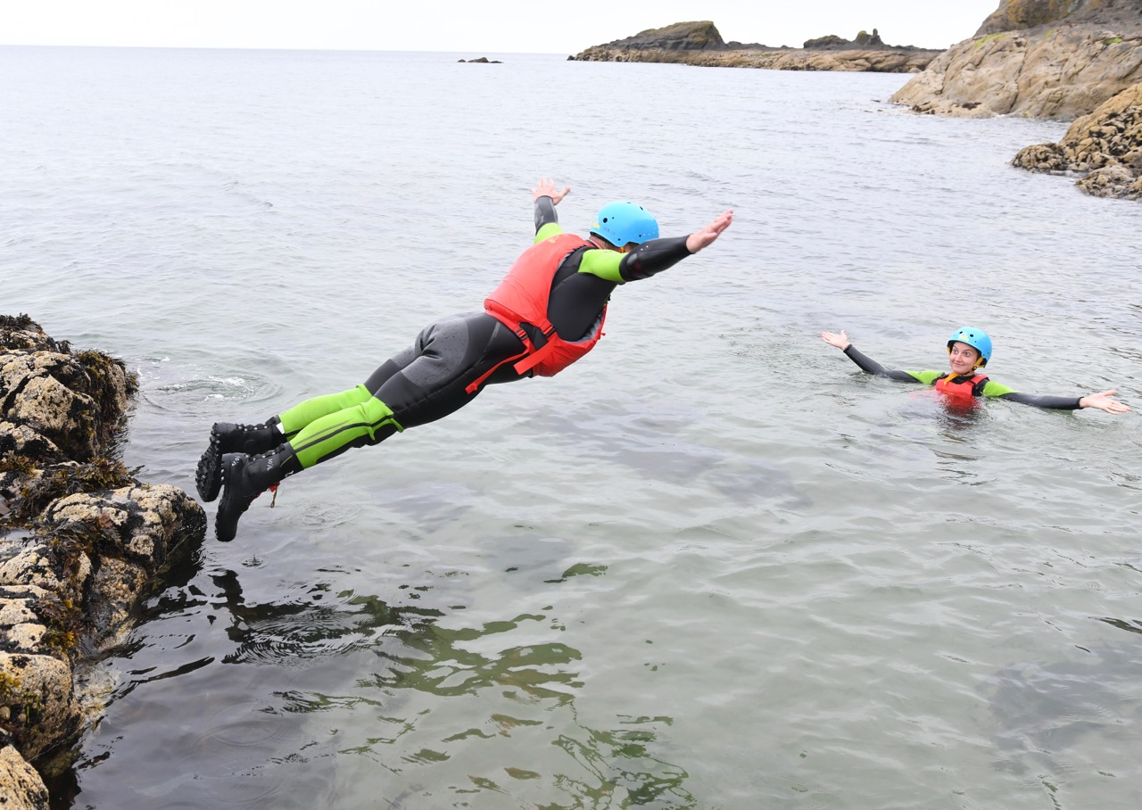 our first time coasteering in Edinburgh