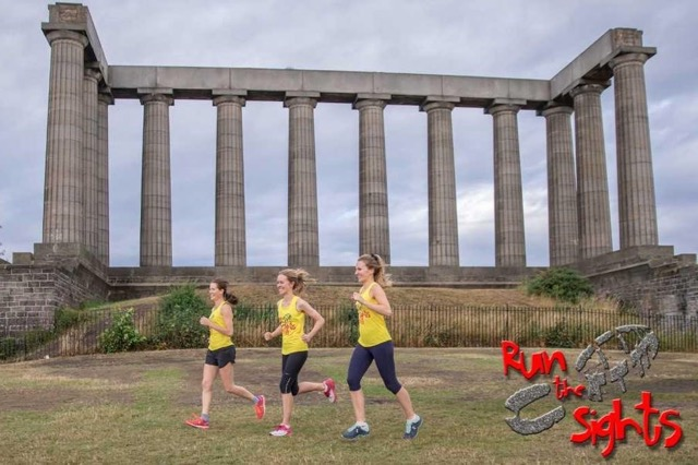 Picture of a running tour edinburgh